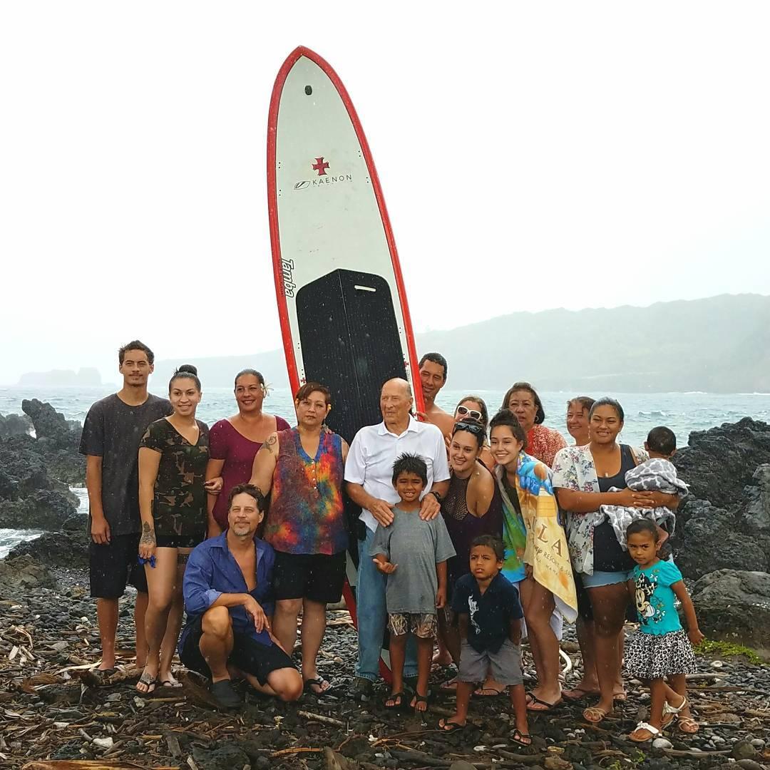 Family portrait!  Michaels Maui familycelebrating Lani s life nearhellip